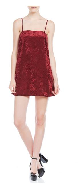 velvet vestido